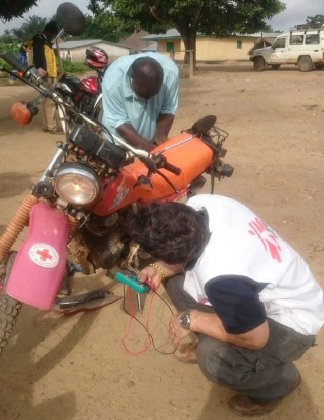 Wiring motorbikes to charge phones