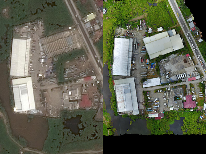 satellite vs drone imagery